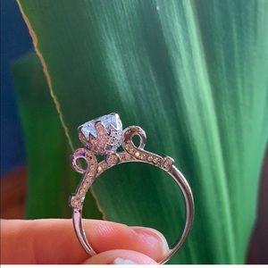 Princesses crown engagement ring